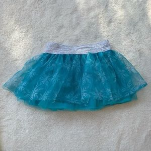 DISNEY Frozen girls size 3T blue and silver skirt